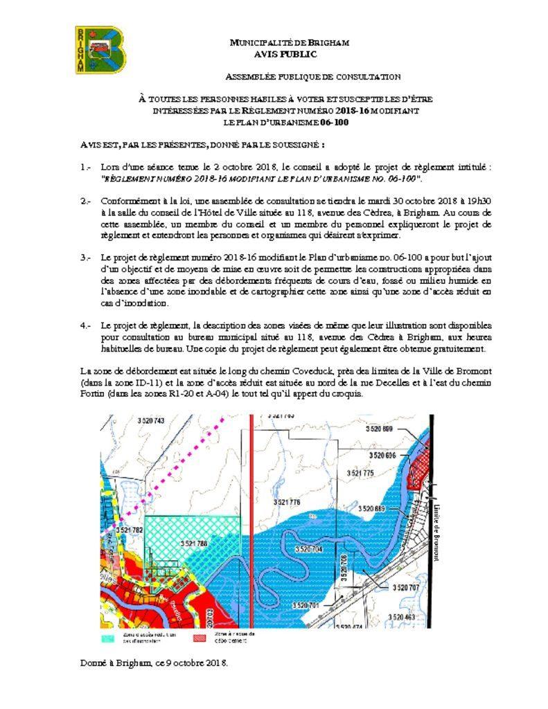 thumbnail of Avis – Assemblée de consultation 2018-16