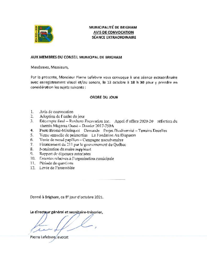 thumbnail of Avis de convocation 08-10-2021