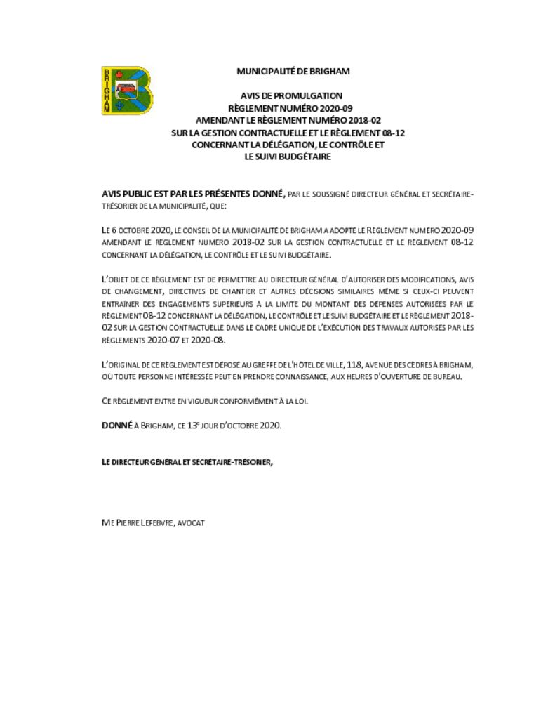thumbnail of Avis de promulgation 2020-09