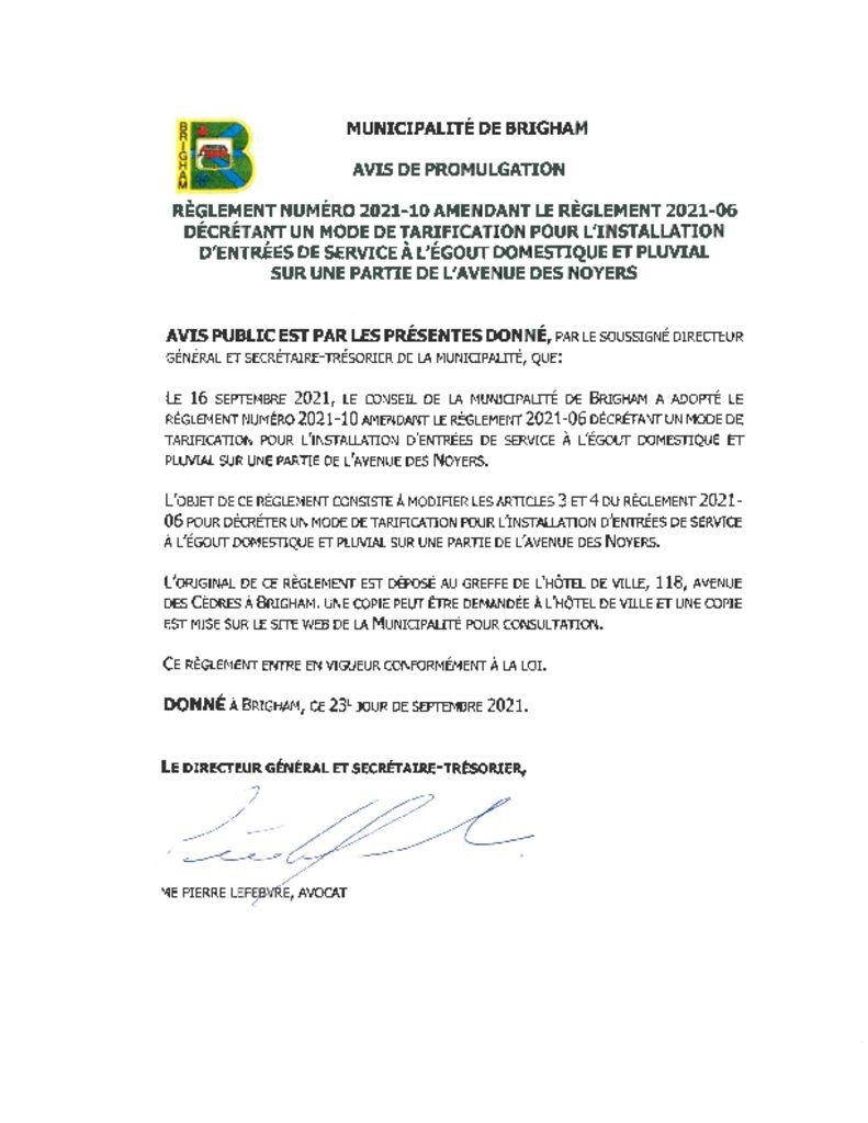 thumbnail of Avis de promulgation 2021-10