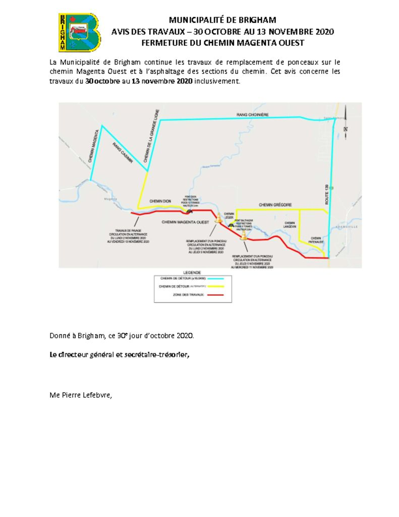 thumbnail of Avis public 8 – Fermeture chemin – Magenta O – 30 oct. au 13 nov. 2020