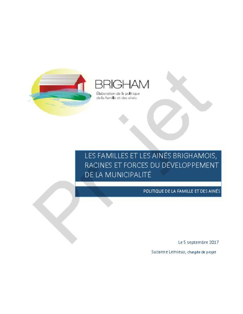 thumbnail of Brigham – Projet Politique de la famille et des ainés