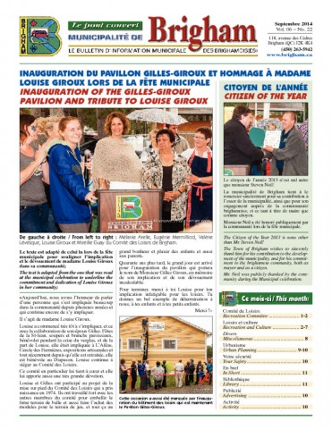 thumbnail of Bulletin Septembre 2014