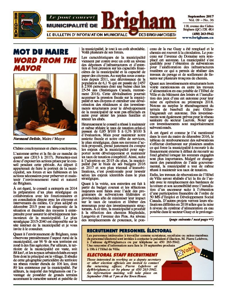 thumbnail of Bulletin Septembre 2017