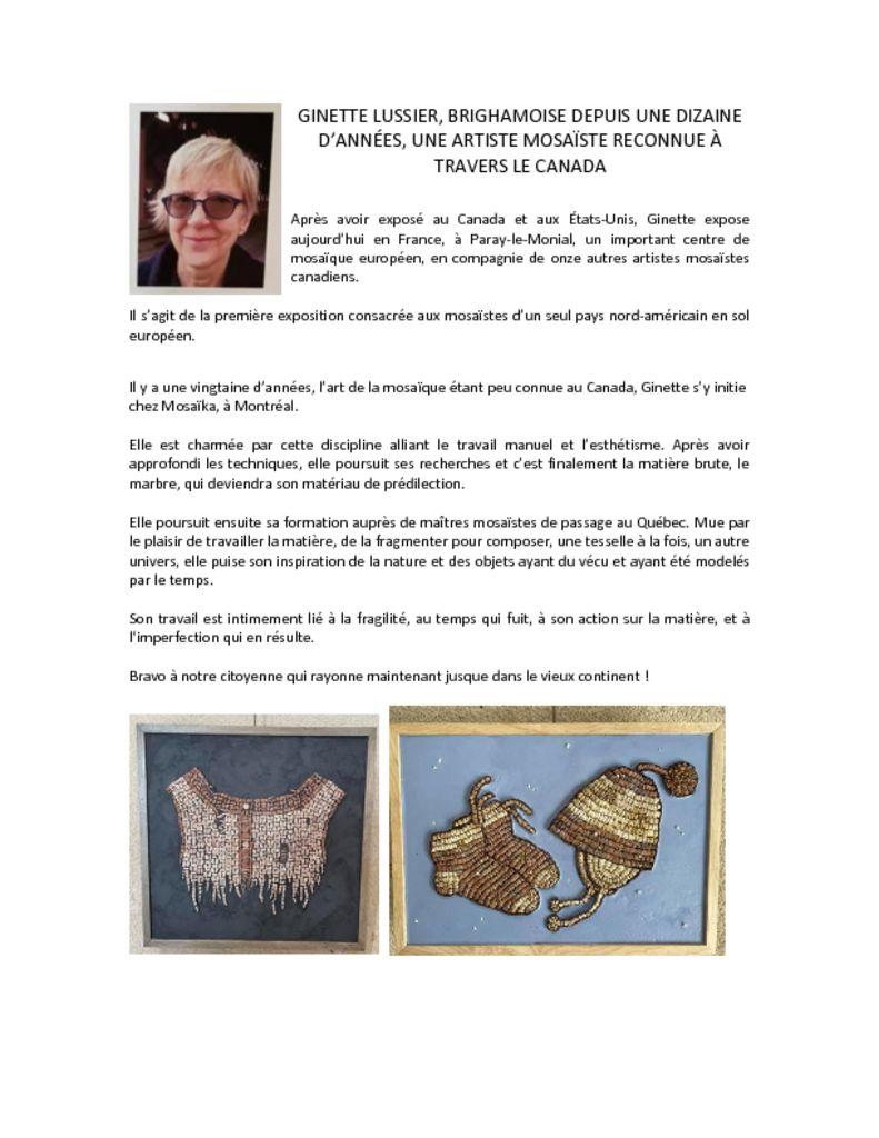 thumbnail of Ginette Lussier