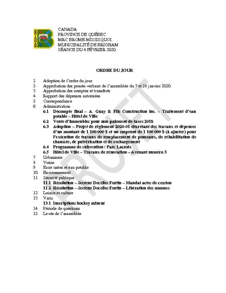 thumbnail of Ordre du jour 2020-02-04