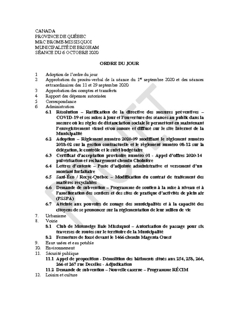 thumbnail of Ordre du jour 2020-10-06