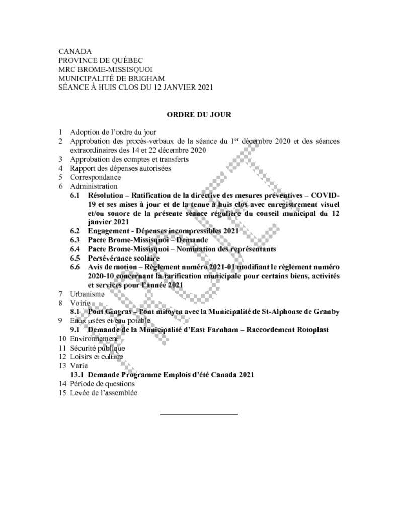 thumbnail of Ordre du jour 2021-01-12