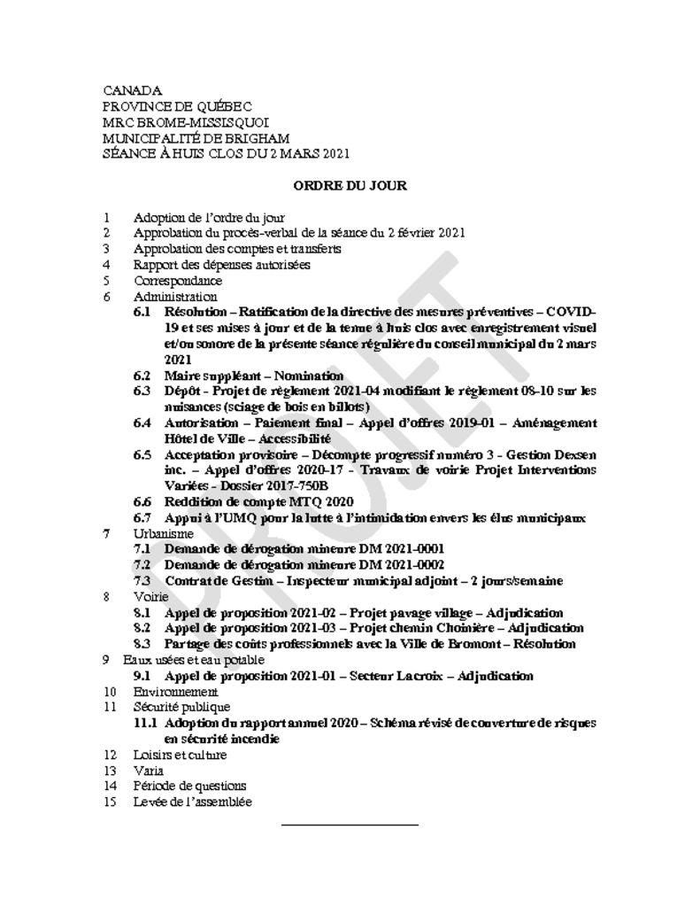 thumbnail of Ordre du jour 2021-03-02