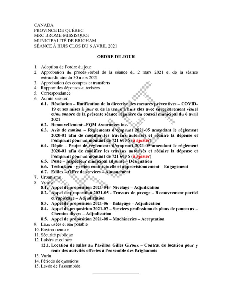 thumbnail of Ordre du jour 2021-04-06
