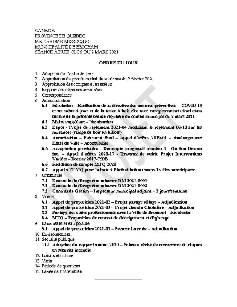 thumbnail of Ordre du jour MODIFIÉ 2021-03-02