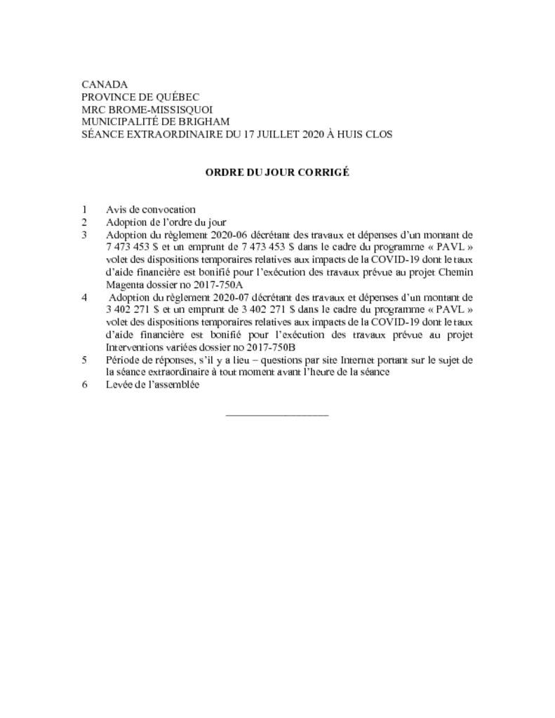 thumbnail of Ordre du jour corrige 2020-07-17 (extraordinaire)