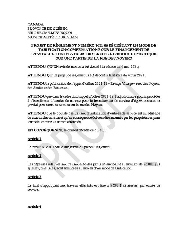thumbnail of Projet de règlement 2021-06