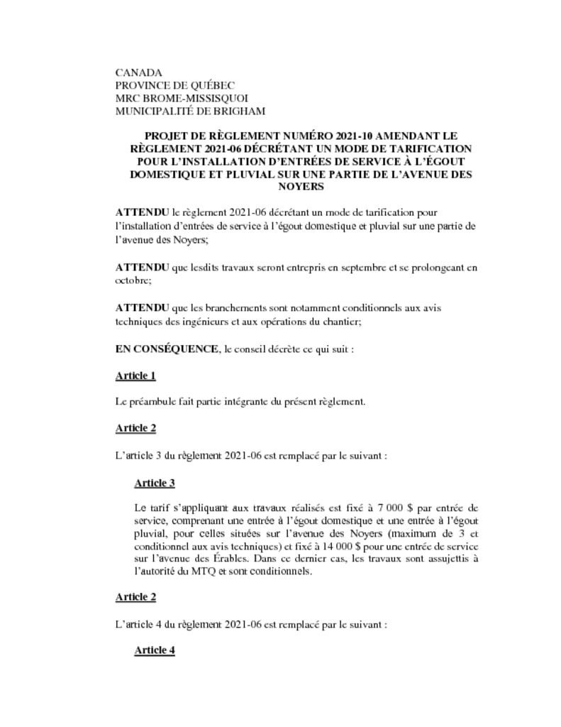 thumbnail of Projet de règlement 2021-10