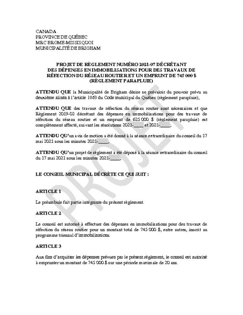 thumbnail of Projet de reglement_2021-07