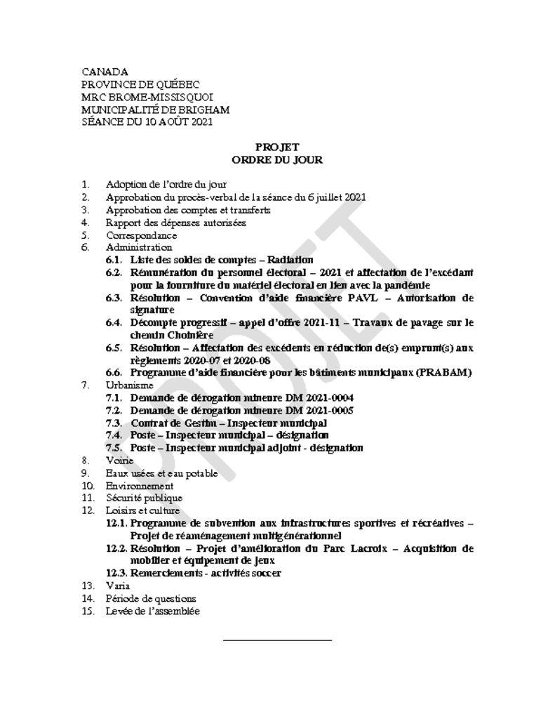 thumbnail of Projet ordre du jour 2021-08-10