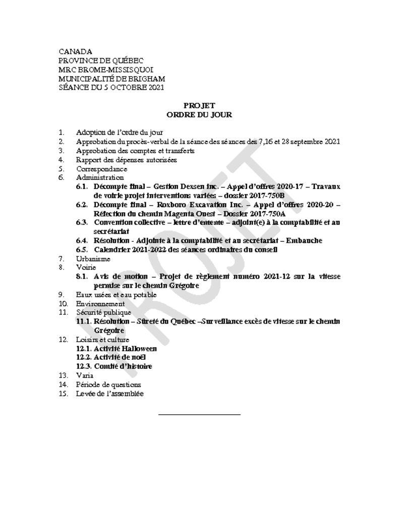 thumbnail of Projet ordre du jour 2021-10-05
