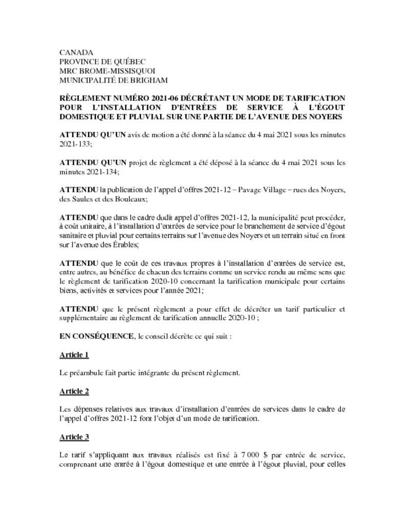 thumbnail of Règlement 2021-06
