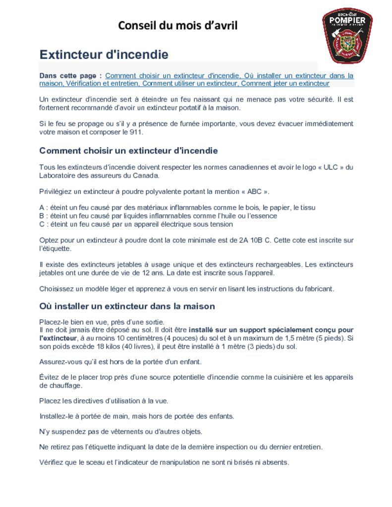 thumbnail of Service des Incendies – Conseil du mois d avril 2021